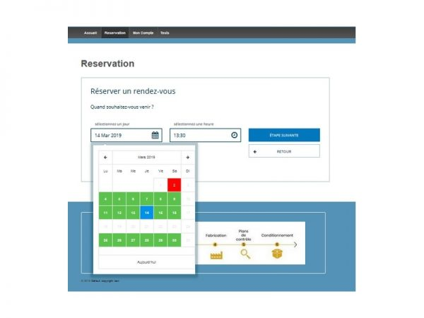 Reservations en ligne